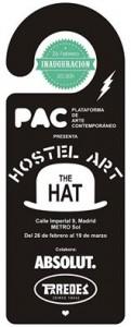 HOSTEL ART, una exposición colectiva en el céntrico Hostel THE HAT,Proyecto expositivo que cuenta con la colaboración de Paredes y Absolut.
