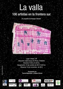 """Las lágrimas de Africa,""""LA VALLA. 100 artistas en la Frontera Sur"""" Utopicus .Madrid"""