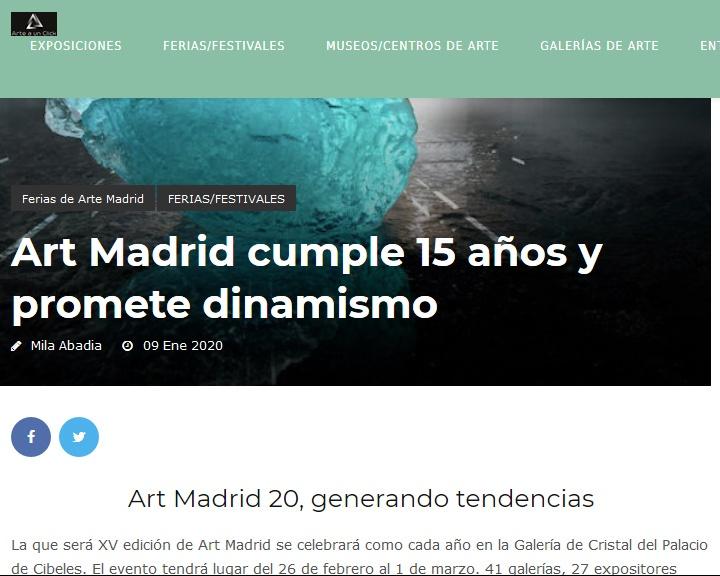 http://arteaunclick.es/2020/01/09/art-madrid-feria-arte/?fbclid=IwAR2VuhykrzIlhd7y_pAk9U7p17mQ4guyhqKcJNMx4SE8FnaxoktGWR37cQQ